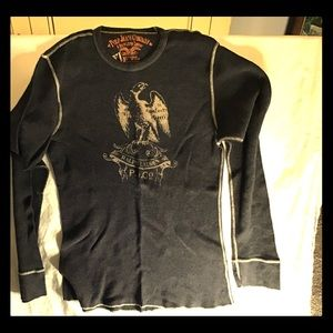 Polo jeans company men's blue thermal shirt
